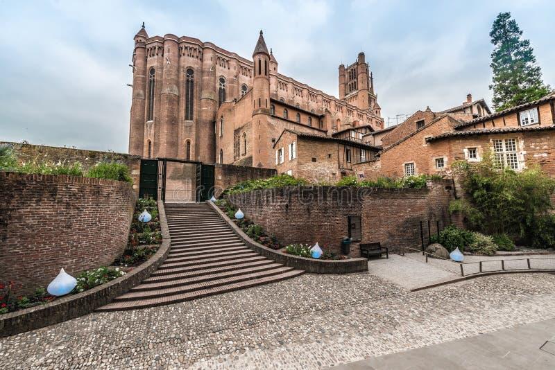 Basílica de la catedral de St Cecilia, en Albi, Francia fotos de archivo libres de regalías