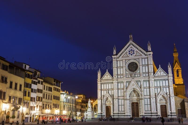 Basílica de la cruz santa en Florencia en Italia imágenes de archivo libres de regalías