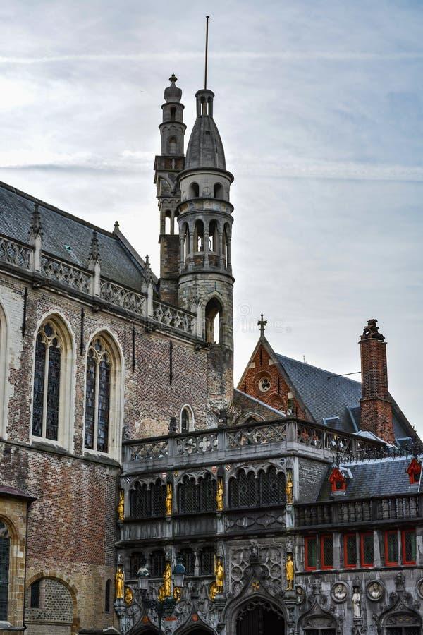 Basílica de la sangre santa, Brujas, Bélgica foto de archivo