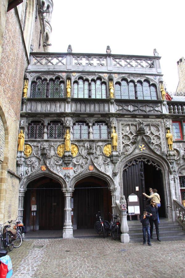 Basílica de la sangre santa - Brujas, Bélgica imagenes de archivo