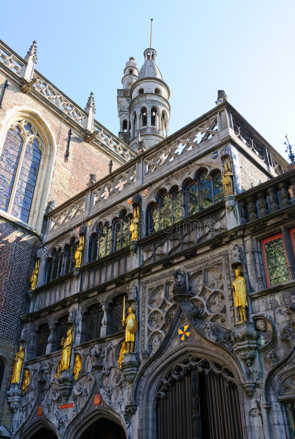 Basílica de la sangre santa en Brujas, Bélgica imagen de archivo