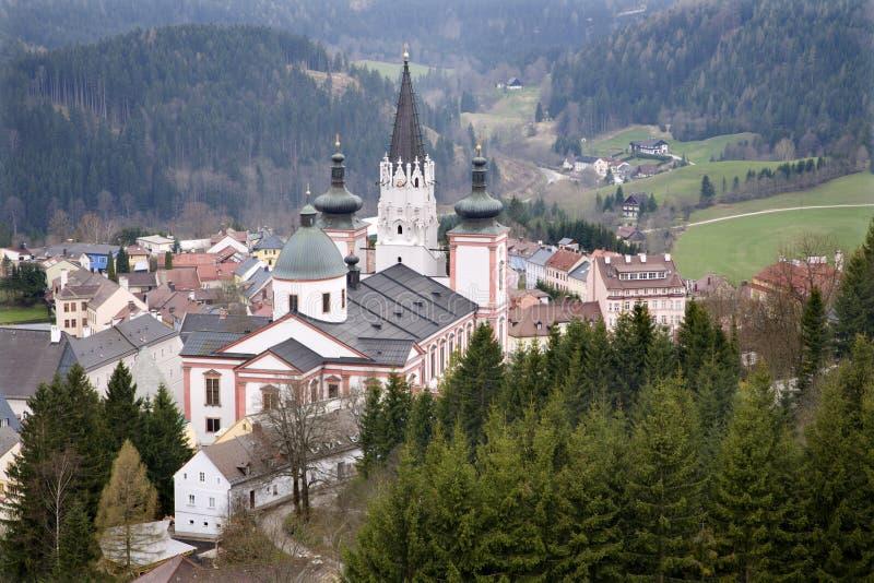 Basílica de Mariazell - Áustria fotografia de stock