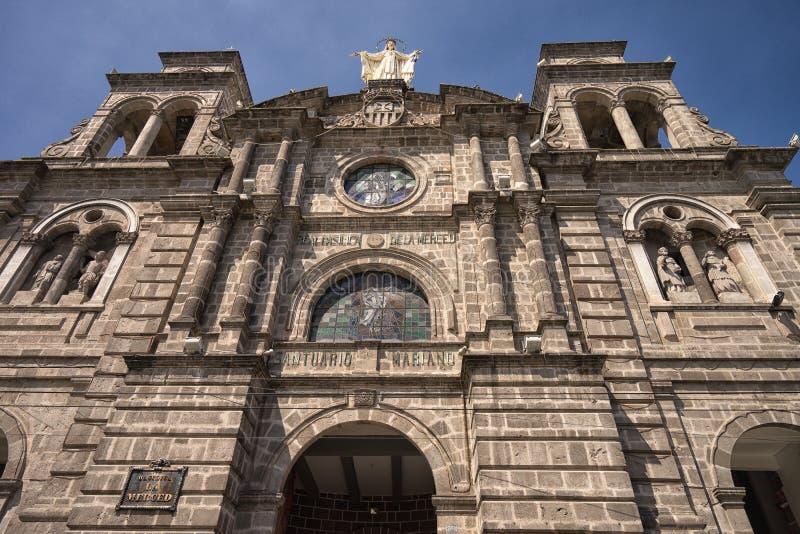 A basílica de Merced no centro histórico de Ibarra foto de stock