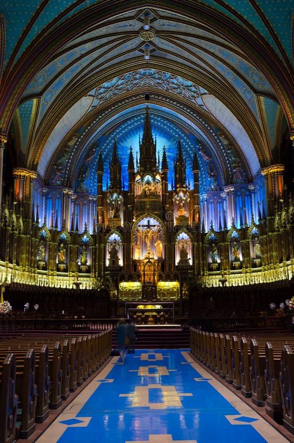 Basílica de Montreal Notre Dame foto de archivo
