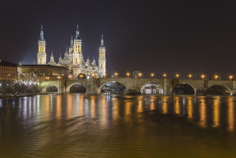 Basílica de Nuestra Señora del Pilar in Zaragoza, Spain royalty free stock photos
