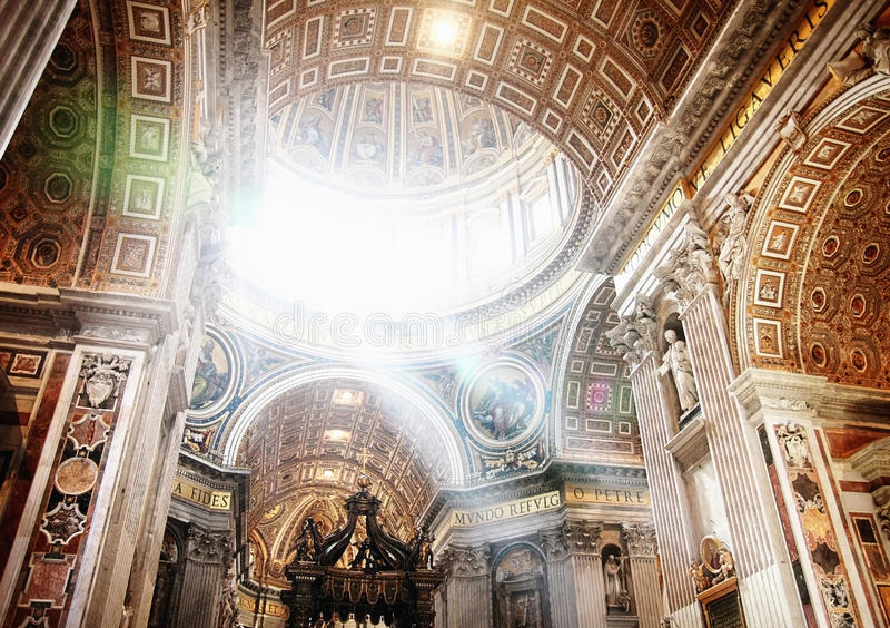 Basílica de Peters de Saint imagem de stock royalty free