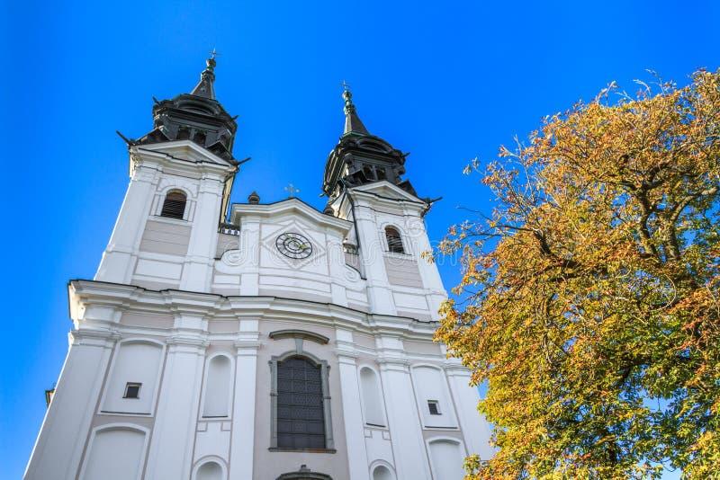 Basílica de Poestlingberg, Linz, Austria fotografía de archivo