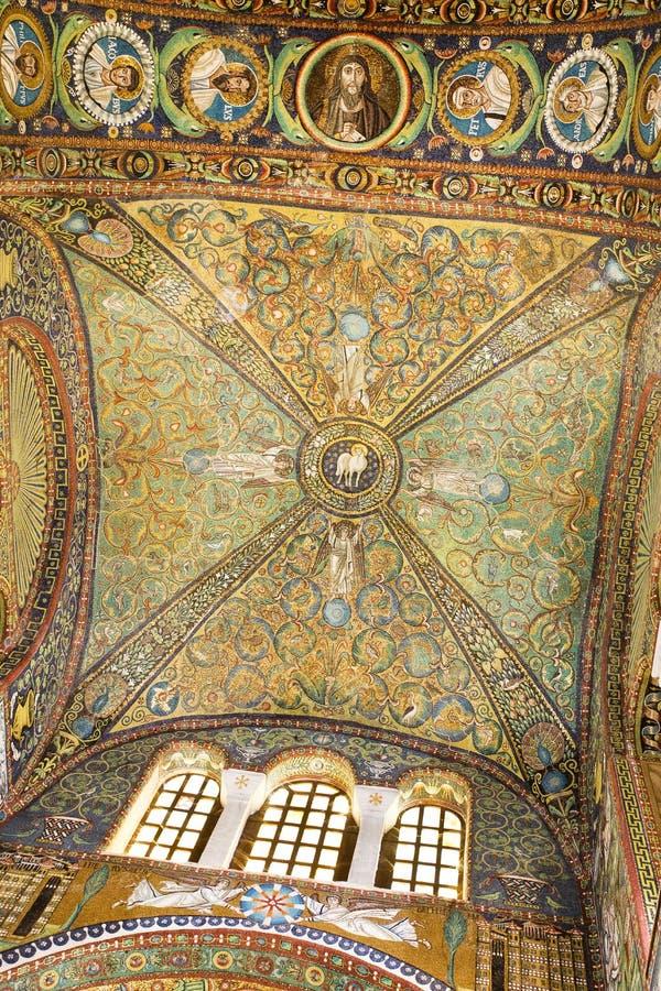 Basílica de Ravenna de St Vitale foto de stock