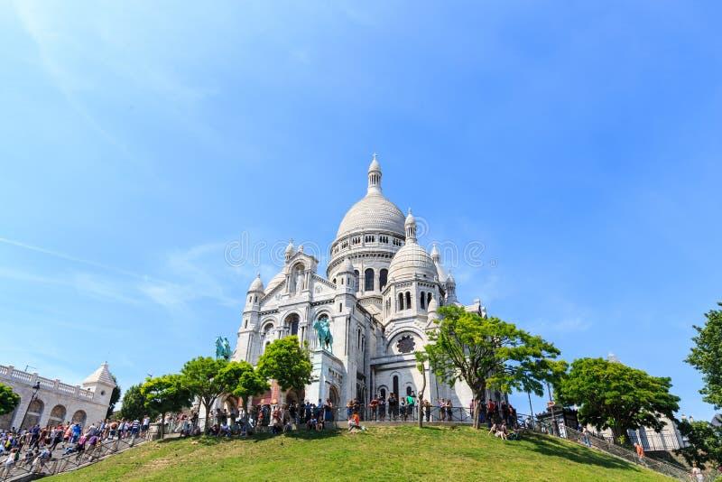 Basílica de Sacre-Coeur en Montmartre, París imágenes de archivo libres de regalías