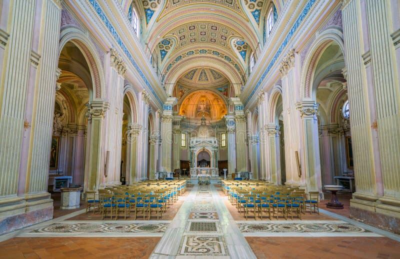 Basílica de Saint Bonifacio e Alessio no monte de Aventine em Roma, Itália foto de stock