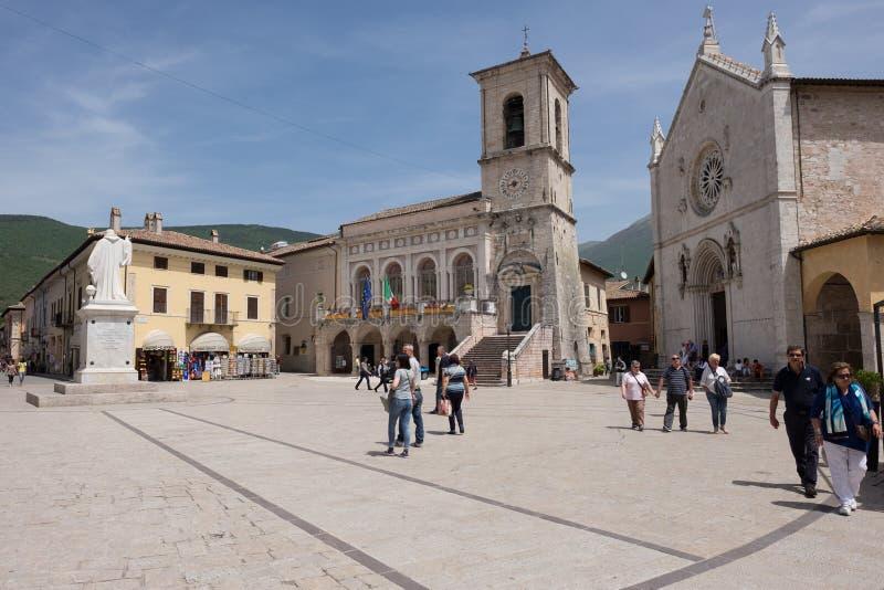 Basílica de San Benedetto imagenes de archivo