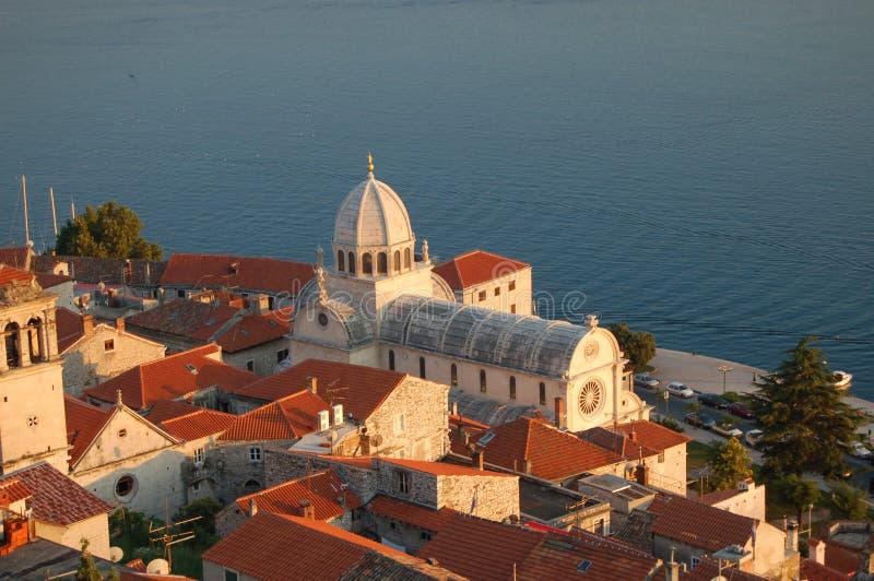 Basílica de San Jaime en Sibenik imagen de archivo libre de regalías