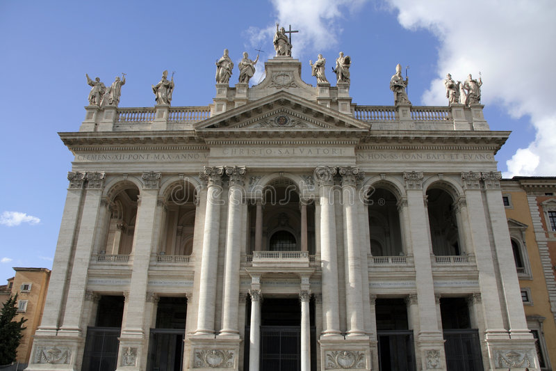 Basílica de San Juan Lateran foto de archivo