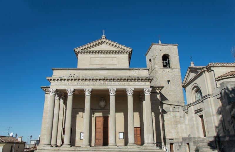 Basílica de San Marino imagen de archivo