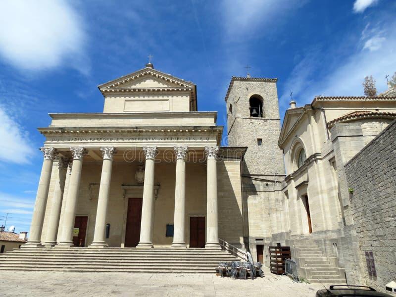 Basílica de San Marino imágenes de archivo libres de regalías