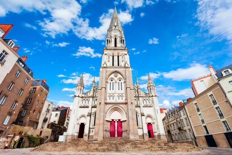 Basílica de San Nicolás, Nantes fotos de archivo