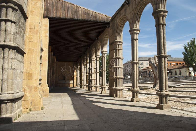 Basílica de San Vicente en Ávila (España) fotos de archivo