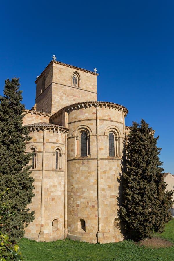 Basílica de San Vicente en el centro histórico de Ávila imágenes de archivo libres de regalías