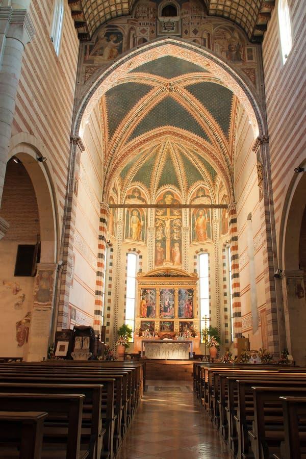 Basílica de San Zeno Verona fotos de archivo