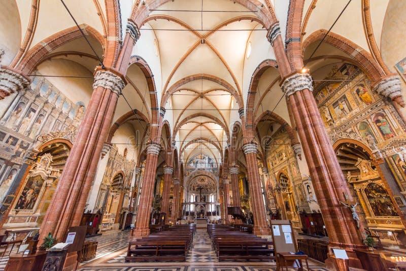 Basílica de San Zeno, Verona, Itália imagem de stock