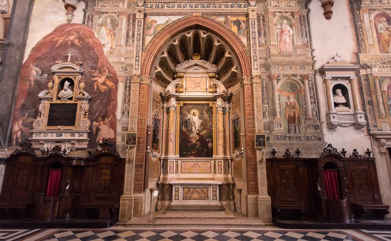 Basílica de San Zeno, Verona, Itália fotos de stock royalty free