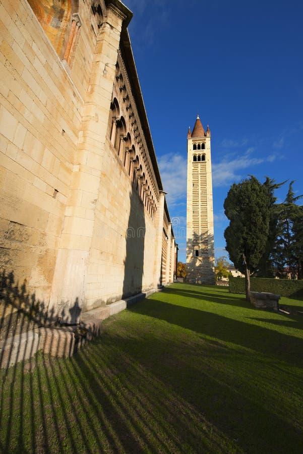 Basílica de San Zeno Verona - Italia imagenes de archivo