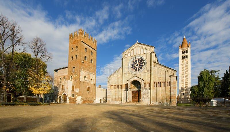 Basílica de San Zeno Verona - Italy imagens de stock royalty free