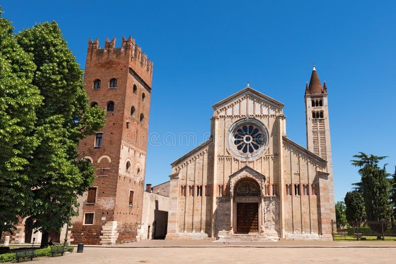 Basílica de San Zeno - Verona Italy fotografia de stock