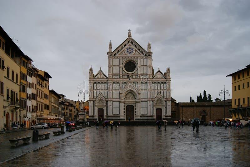 Basílica de Santa Croce em Florença imagens de stock