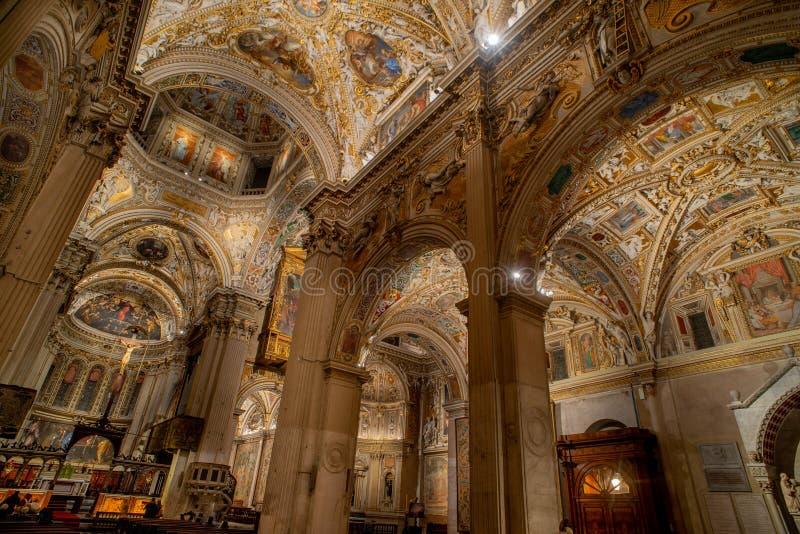 Basílica de Santa Maria Maggiore de Bérgamo imagenes de archivo