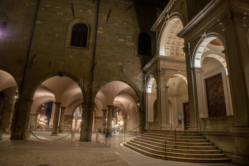 Basílica de Santa Maria Maggiore en Bérgamo fotografía de archivo libre de regalías