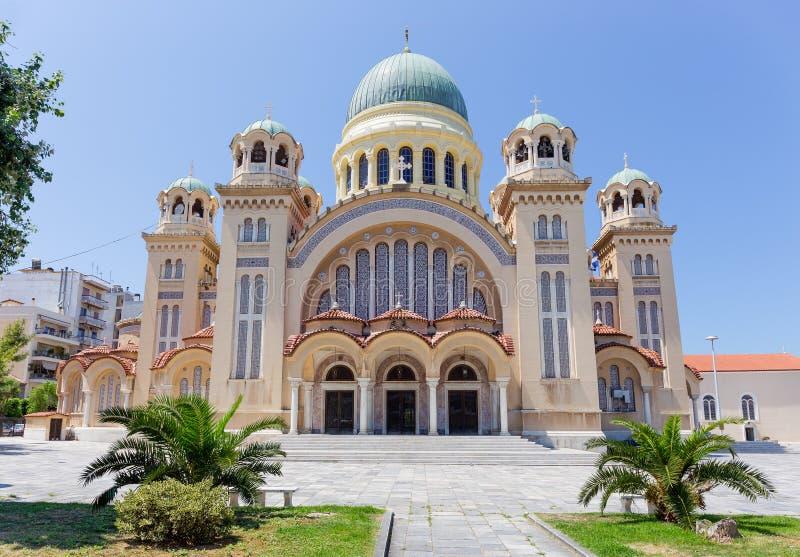 Basílica de St Andrew, la iglesia más grande de Grecia, Patras, Peloponeso fotos de archivo