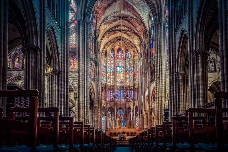 Basílica de St Denis imagen de archivo