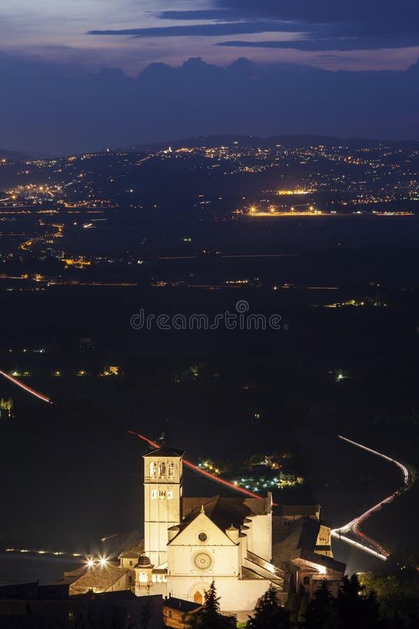 Basílica de St Francis de Assisi fotografía de archivo