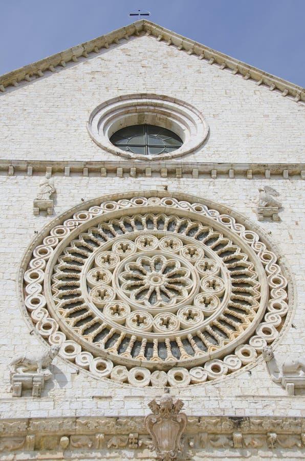 Basílica de St Francis en Assisi, Italia fotografía de archivo libre de regalías