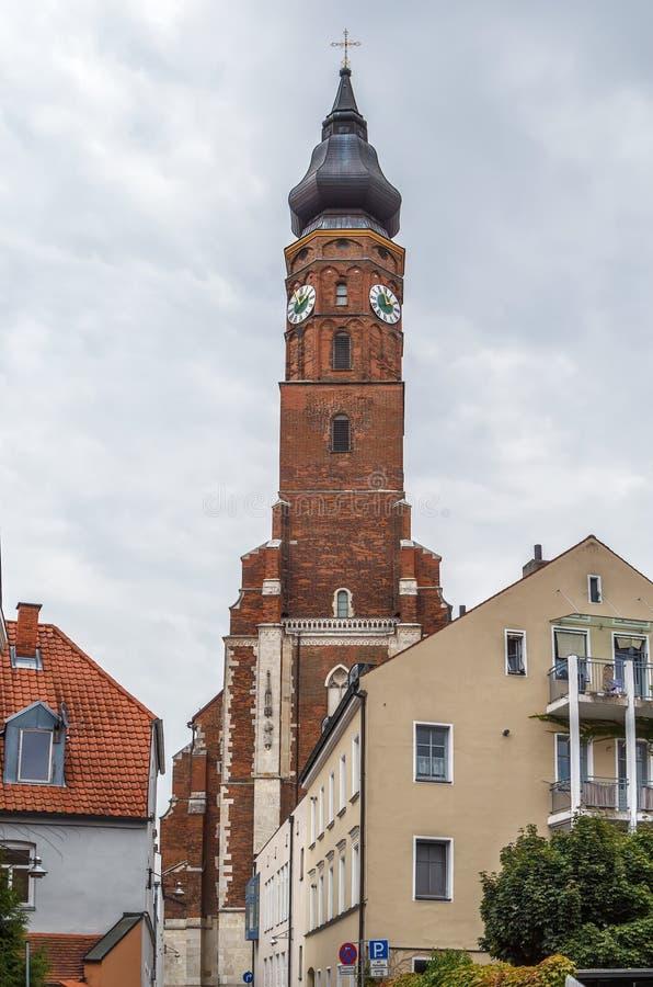 Basílica de St Jacob, Straubing, Alemanha imagem de stock