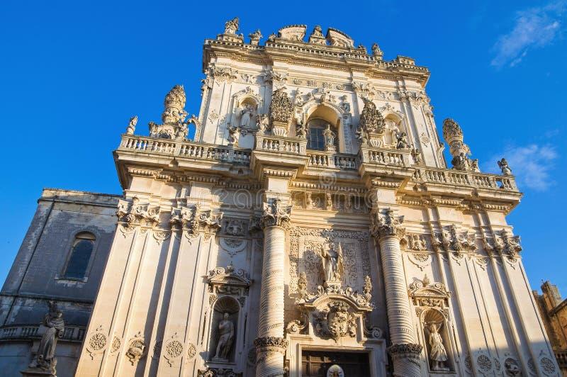Basílica de St. Juan Battista. Lecce. Puglia. imagen de archivo libre de regalías