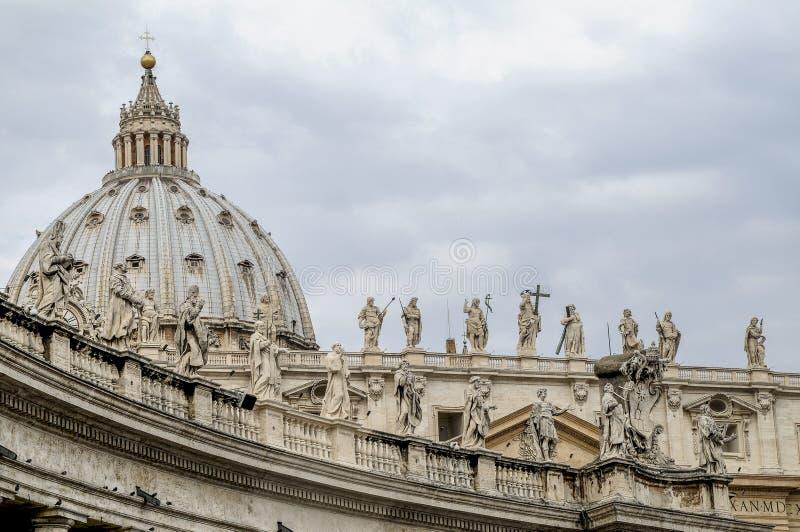 Basílica de St Peter, ponto de vista especial imagem de stock royalty free