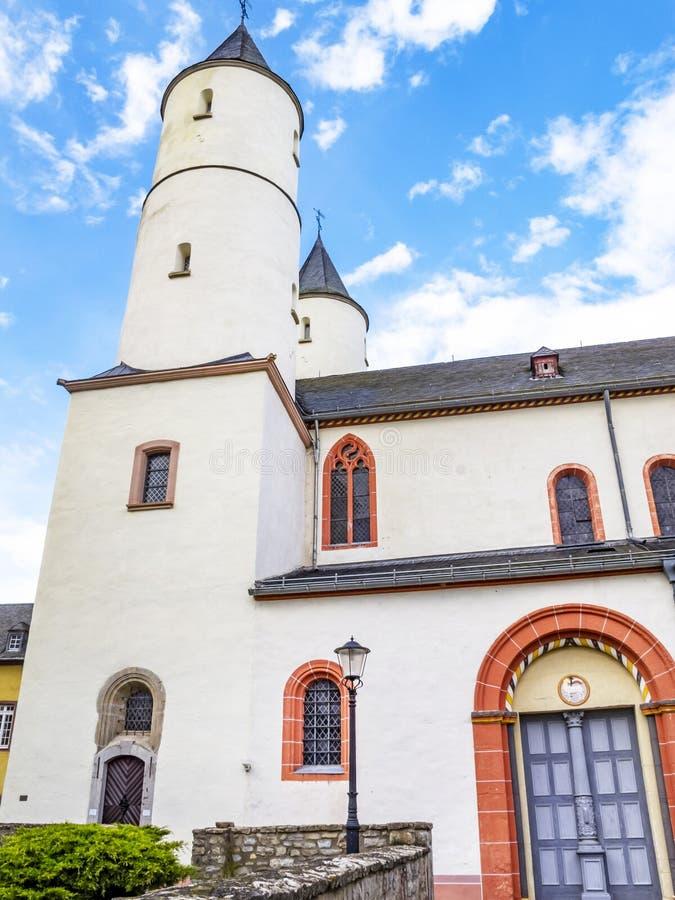 Basílica de Steinfeld, vista exterior parcial, em Steinfeld em Kall, Reno-Westphalia norte, Alemanha imagem de stock royalty free