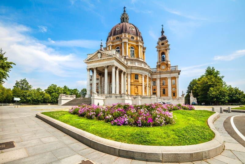 Basílica de Superga, Turín, Italia foto de archivo libre de regalías