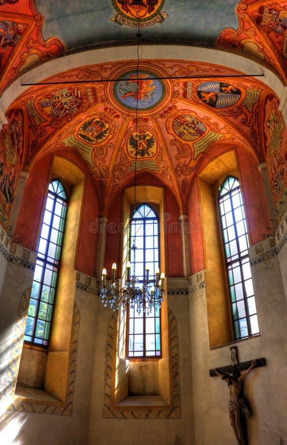 Basílica de um castelo de Ljubljana, Slovenia fotos de stock royalty free