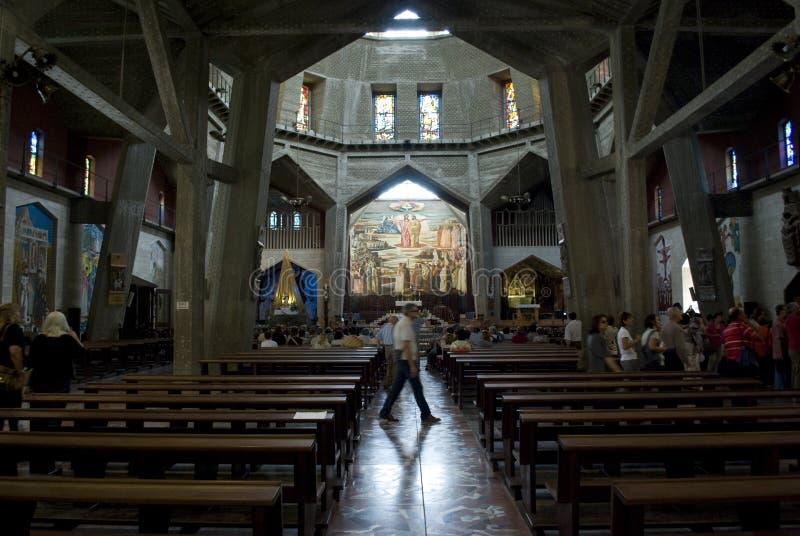 Basílica del anuncio en Nazareth fotos de archivo libres de regalías