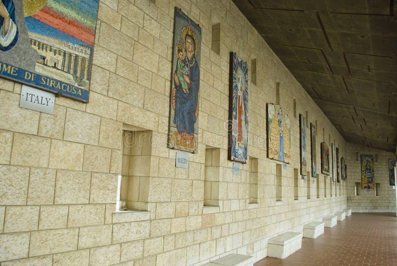 Basílica del anuncio en Nazareth fotos de archivo