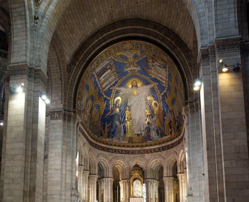 Basílica del corazón sagrado de París imagenes de archivo