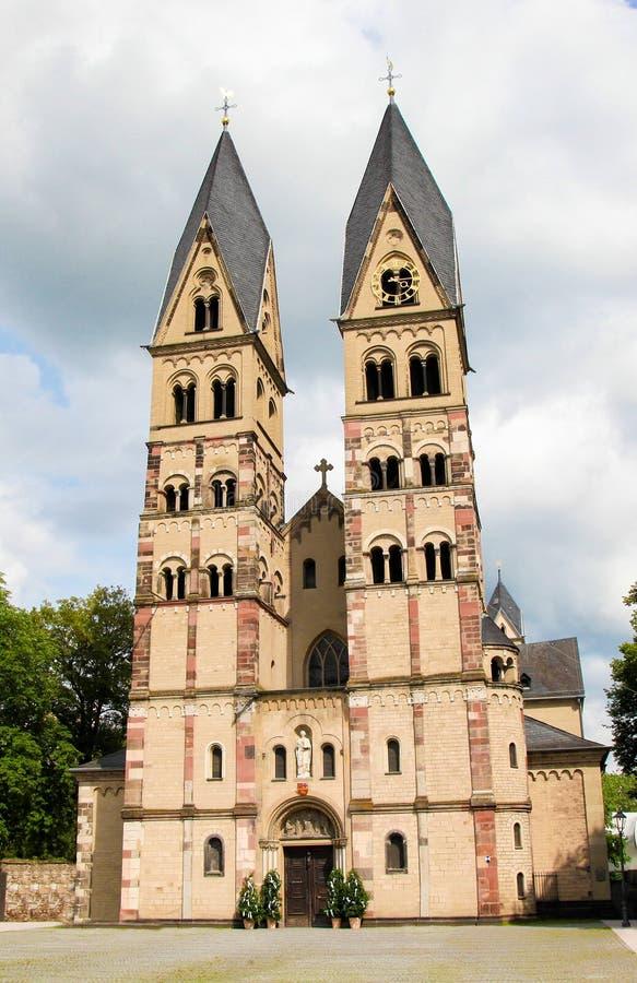 Basílica del echador del St en Coblenza, Alemania fotos de archivo libres de regalías