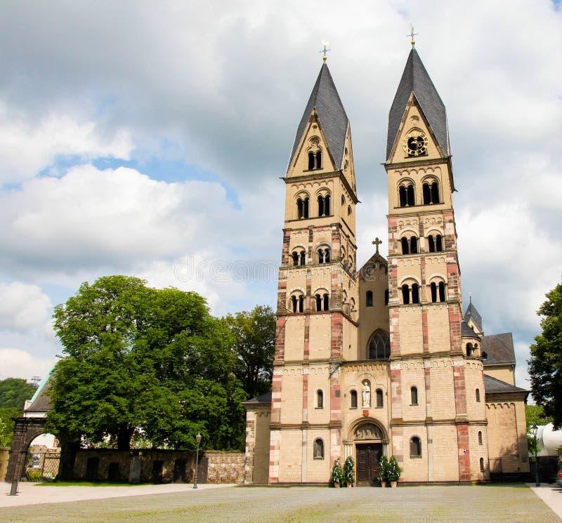 Basílica del echador del St en Coblenza, Alemania fotografía de archivo libre de regalías