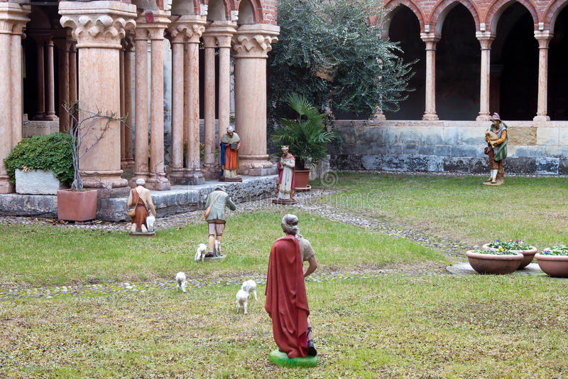 Basílica del patio de San Zeno foto de archivo libre de regalías