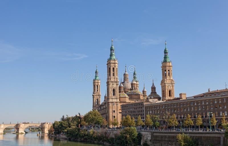 Basílica Del Pilar en Zaragoza fotos de archivo libres de regalías