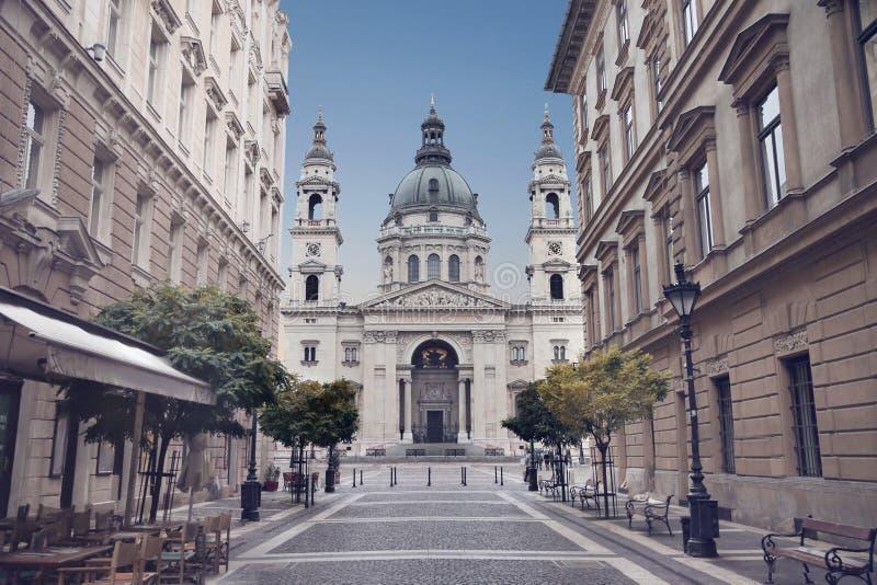 Basílica del ` s de Budapest - de St Stephen, Hungría Vista de Szent Istvan foto de archivo libre de regalías