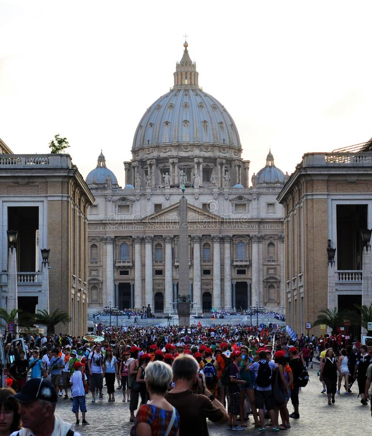 Basílica del ` s de San Pedro - Ciudad del Vaticano imágenes de archivo libres de regalías